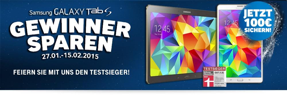 Samsung Galaxy Tab S 100 EUR Cashback Aktion