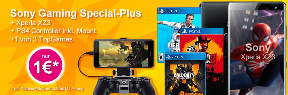 Sony Gaming Pack Aktion XZ3 mit Telekom Vertrag