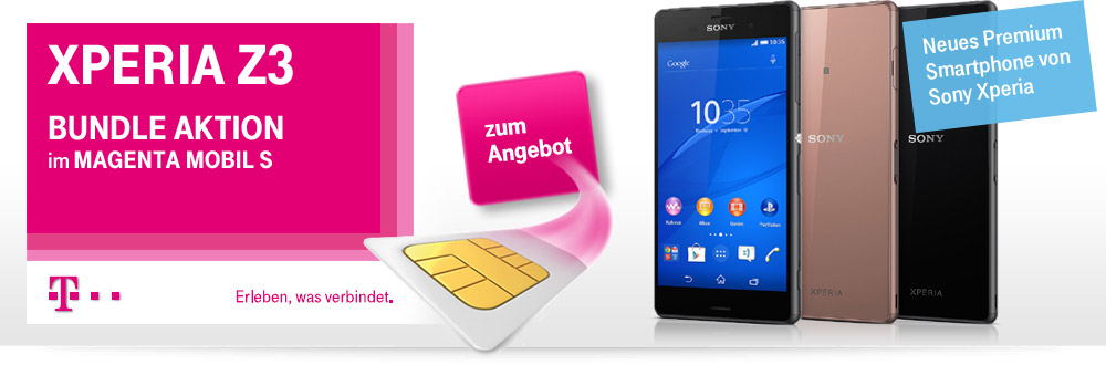Xperia Z3 Bundle Aktion Telekom Vertrag