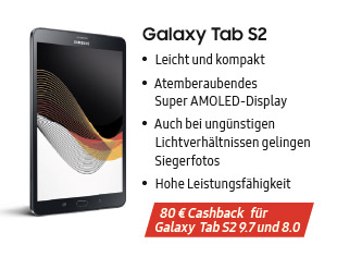 Galaxy Tab S2 Fanprämie