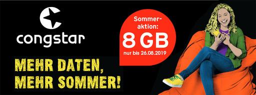 congstar Sommeraktion 2019 | Mobileforyou