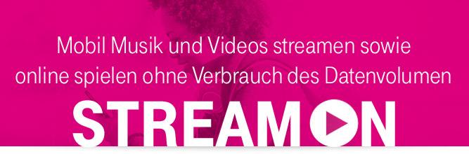 Telekom StreamOn: Mobil unbegrenzt streamen