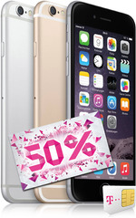 Apple iPhone 6 64GB 50% Aktion